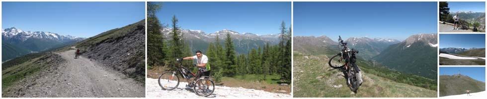 Cu bicicleta la 2.600 de metri in Piemonte