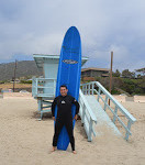 Surfing in USA, Zuma beach - Malibu